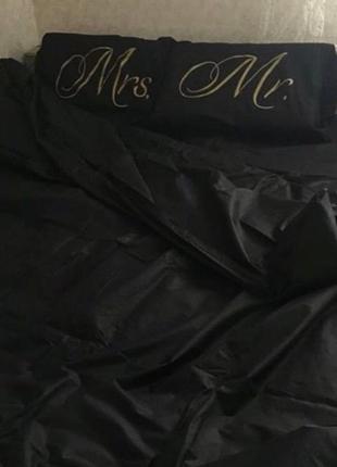 Постельное белье с принтом mrs and mr