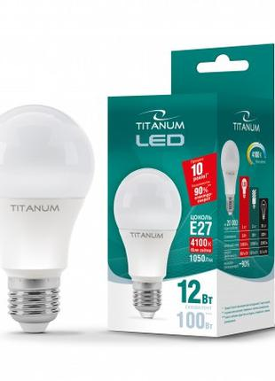LED лампа TITANUM A60 12W E27 4100K 220V (ТL-A60-12274)