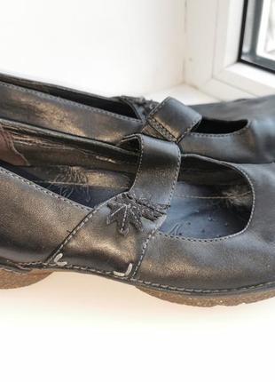 Кожаные туфли(6,5)р.