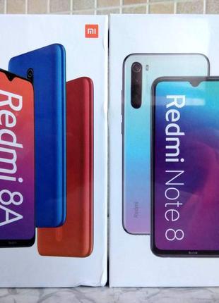 Xiaomi Redmi 8A 2/32 и Redmi Note 8 4/64 + бампер чехол + стекло