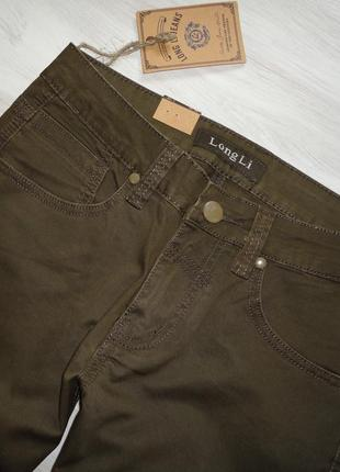 Новые джинсы, качество, оливкового цвета