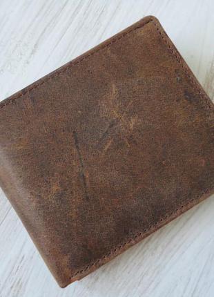 Портмоне натуральная плотная кожа из германии
