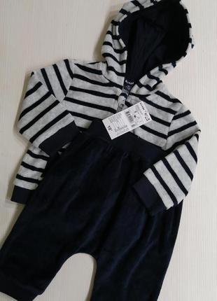 Велюровый костюм для малышей kiabi