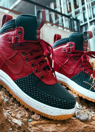 Кроссовки Nike Lunar Force 1 Duckboot «Red/Black» 41-45 р
