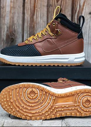 Кроссовки Nike Lunar Force 1 Duckboot 15 «Brown/Black» 41-45 р