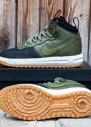 Кроссовки Nike Lunar Force 1 Duckboot 15 «Green/Black» 41-45 р