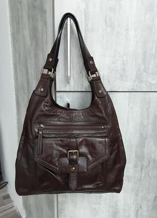 Кожаная сумка marks&spencer