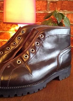 Гранжевые кожаные ботинки(38 европ).roccia botticelli.
