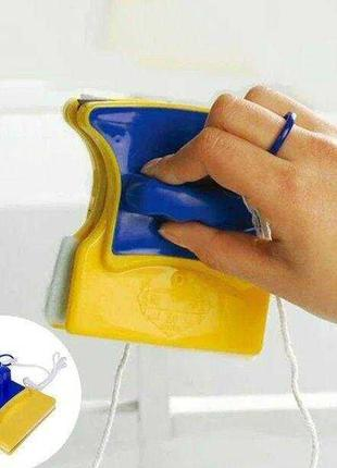 Магнитная щетка для мытья окон Double Side Glass Cleaner