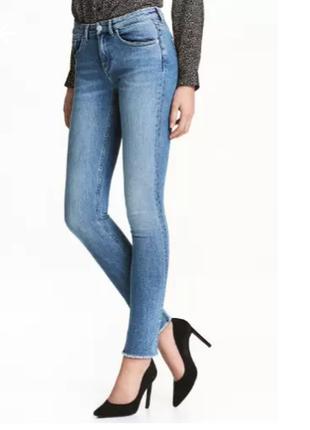 H&m conscious голубые джинсы, штаны обтягивающие, зауженные ск...