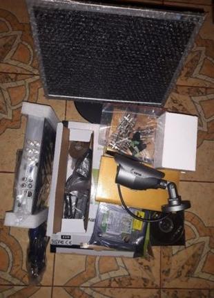 Комплект для відеонагляду 4 камери Full HD1080P . Повний під к...