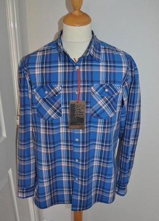 Новая рубашка в яркую клетку 'north coast (m&s)' 48-50р