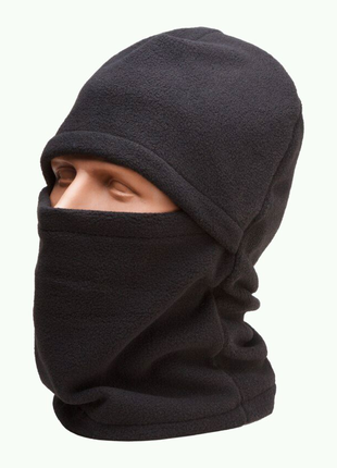 """Флисовая Шапка-маска Балаклава """"Черный"""""""
