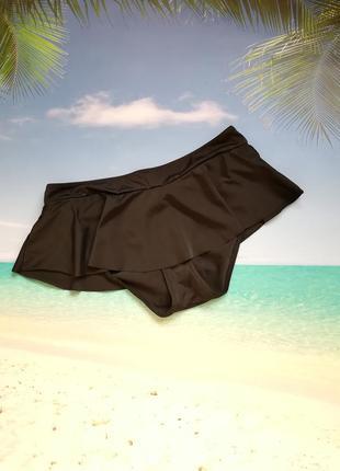 Черные плавки юбка-плавки плавки с баской