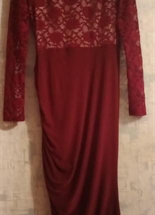 Нарядное стрейчевое платье р. 46