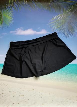 Черная юбка-плавки с подворотом