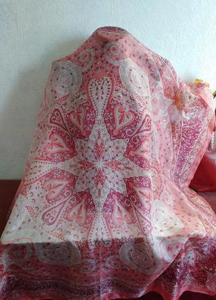 Натуральный шелк, большой платок, 101*100,naf naf