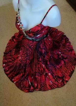 Платье миди на тонких бретелях размер 34-36
