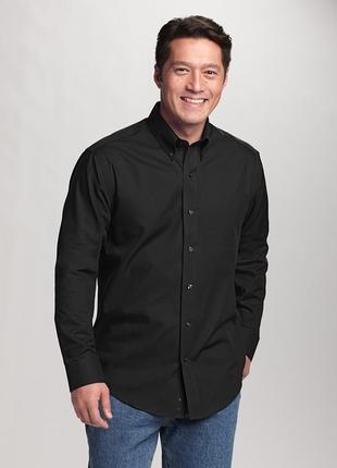 Новая рубашка черная стрейч 'cutter & buck' 56-60р