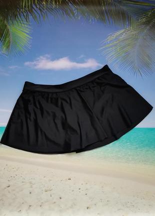Юбка-плавки черная