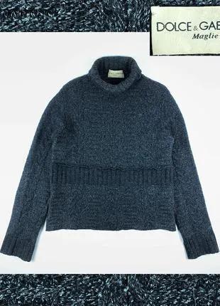DOLCE & GABBANA винтаж мужской свитер шерсть