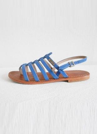 Брендовые кожаные босоножки сандалии на плоской подошве les tr...