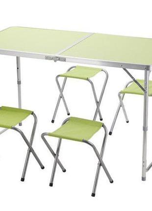 Раскладной стол 4 стула комплект мебели для отдыха пикника