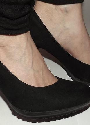 Туфли эко замша платформа каблук 38 размер