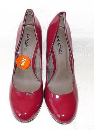 Красные лакированные туфли на каблуке carina 38 р.