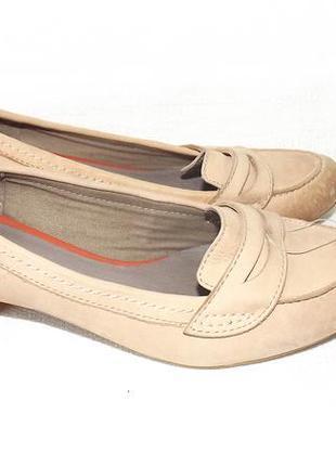 Туфли бежево-коричневые кожа 37 р. 23,5 см roberto santi