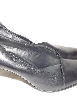 Туфли кожаные классика чёрные 40 размер