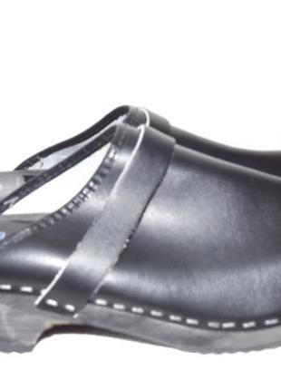 Сабо кожаные закрытые шлёпанцы 41 размер dockers