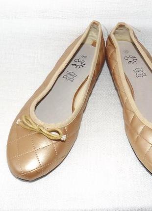 Балетки туфли на низком ходу стелька 25,3 см