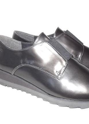 Туфли s.oliver лакированные платформа 41 размер стелька 26,5 см