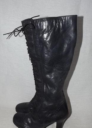 Сапоги кожаные 37 размер 23,5 стелька