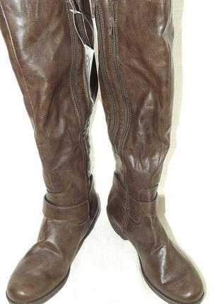 Сапоги высокие коричневые 24 см стелька