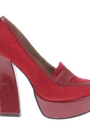 Туфли красные платформа каблук ana lublin