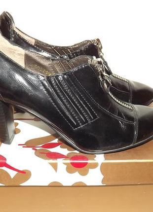 Туфли закрытые кожаные covani 22,5 стелька