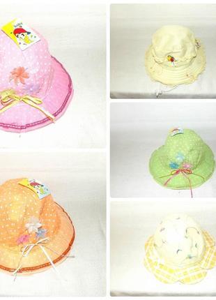 """Панама шляпка """"baby"""" 6 - 18 мес разноцветные"""