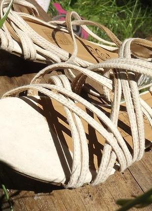 Текстильные сандалии, босоножки