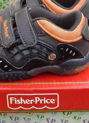 Кроссовки кожа мальчику светяться fisher price 20 размер