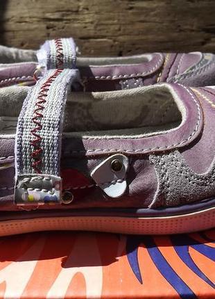 Балетки туфли нарядные замш woolf пурпурные 24