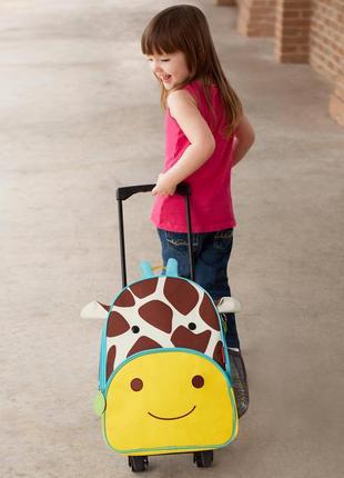 Детский маленький чемодан skip hop детская сумка на колесах ор...