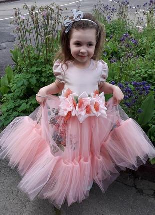 Нарядное платье коралловая фея