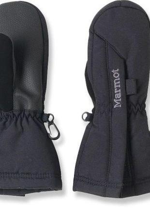 Детские перчатки унисекс marmot - kid's split mitt black
