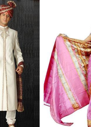 Индийский костюм. Женский / мужской. Сари. Шервани
