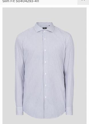 Рубашка slim fit tailored оригинал hugo boss размер m