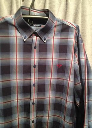 Коттоновая рубашка в клетку большого размера.154