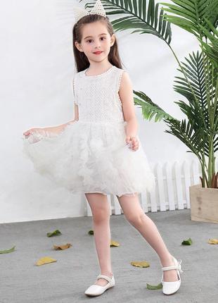 12-49 нарядное красивое детское платье на выпускной праздник у...