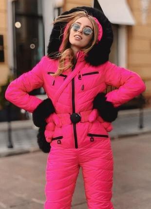 Комбинезон зимний с рукавичками и сумкой